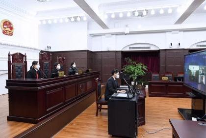 法院通过会议平板开展在线庭审