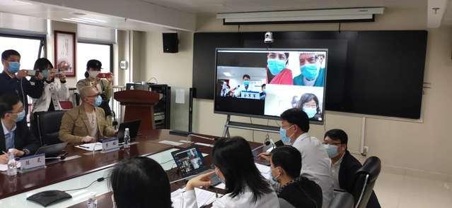 西安交通大学第一附属医院通过MAXHUB会议平板与意大利医院视频连线分享经验