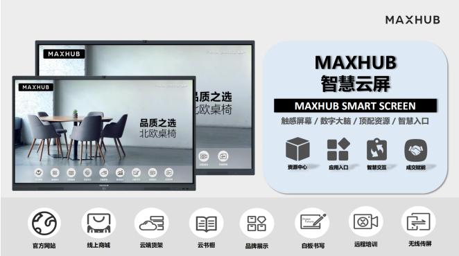 MAXHUB门店智慧云屏
