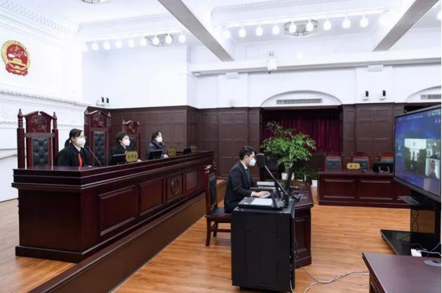 法院开展通过会议平板开展在线庭审